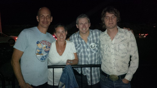 Cathy and I with Mitch Marine and Brian Whelan. Great guys. Amazing players.
